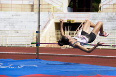 Women's High Jump Action Royalty Free Stock Images