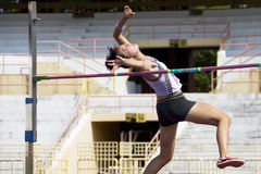 Women's High Jump Action Royalty Free Stock Photography