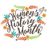 Women's history month blackboard design. Royalty Free Stock Photo