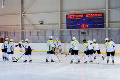 Women's hockey in Ukraine Royalty Free Stock Images