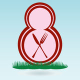 Womens Holiday day March 8 number symbol. Royalty Free Stock Image