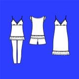 Women's homewear. pajamas jersey. shorts and top. clothes. Royalty Free Stock Photos