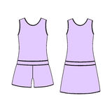 Women's homewear. pajamas jersey. shorts and top. clothes. Royalty Free Stock Photo