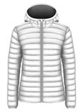 Women`s hooded insulated down jacket Stock Image