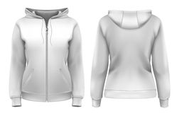 Women's hoodie royalty free illustration