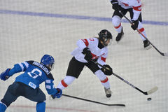Women's ice hockey match Finland vs Switzerland Royalty Free Stock Images
