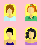Women`s Icon Vector Illustration. Flat Style Elements. stock image