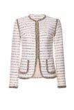 Women`s jacket isolated on white. Women`s elegant jacket isolated on white Royalty Free Stock Photos