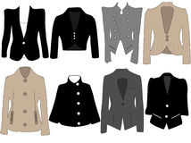 Women's jackets. Vector illustration of women's jackets Royalty Free Stock Images
