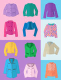Women's jackets for spring and summer Stock Image