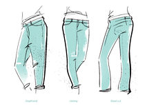 Women`s jeans fits Royalty Free Stock Image