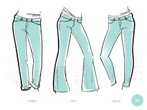 Women`s jeans fits Royalty Free Stock Photography