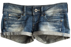 Women's Jeans Shorts Royalty Free Stock Photography