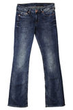 Women's jeans. On white background Royalty Free Stock Photos