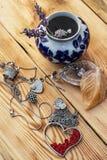 Women's jewelry trinkets Royalty Free Stock Image