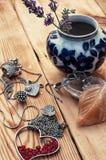 Women's jewelry trinkets Stock Photos