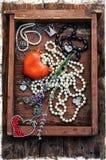 Women's jewelry trinkets Royalty Free Stock Photos