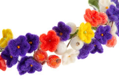 Women's jewelry wreath on head of flowers and berries Royalty Free Stock Images