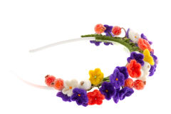 Women's jewelry wreath on head of flowers and berries Royalty Free Stock Photos