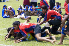 Women's Kabaddi Action Stock Image