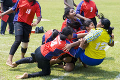 Women's Kabaddi Action Royalty Free Stock Photography