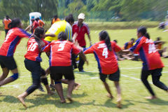 Women's Kabaddi Action (Blurred) Royalty Free Stock Images