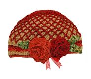 Women's knitted hat handmade Stock Photos