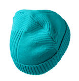Women's knitted hat isolated on white background. Royalty Free Stock Images