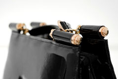 Women`s leather bag on a white background12 stock photo