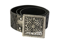 Women's leather belt Royalty Free Stock Image