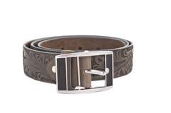Women's leather belt isolated Royalty Free Stock Image