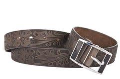 Women's leather belt isolated Stock Photo