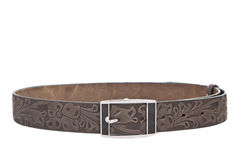 Women's leather belt isolated Royalty Free Stock Photos