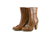 Women's leather boots Stock Photography