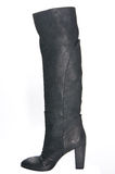 Women's leather boots in black. 