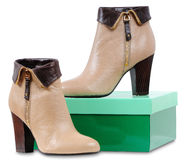 Women's leather boots Royalty Free Stock Photography