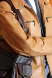 Women's leather clothing Royalty Free Stock Photography