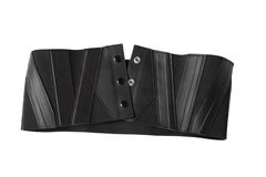Women's leather corset belt royalty free stock images
