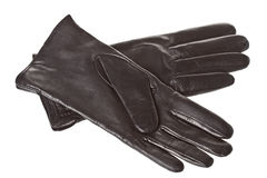 Women's leather gloves Stock Photos