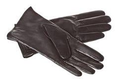 Women's leather gloves Stock Photos