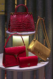 Women's leather hand bags Royalty Free Stock Image