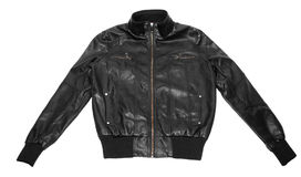 Women's leather jacket Stock Photos