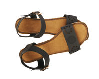 Women's leather sandals Stock Photography