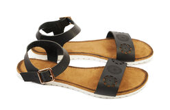 Women's leather sandals Royalty Free Stock Photo