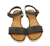 Women's leather sandals Royalty Free Stock Images
