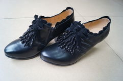 Women's leather shoes Royalty Free Stock Photo