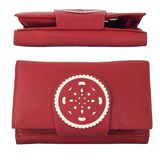 Women's leather wallet red Stock Photography