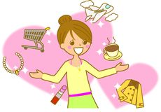Women's Lifestyle. This is an illustration of women's lifestyle Royalty Free Stock Images