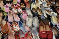 Women`s loafers shoes Stock Photography