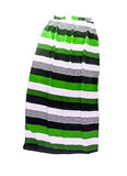 Women's long skirt with a striped multi-colored pattern, isolate Royalty Free Stock Photos